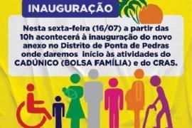 Prefeitura de Goiana irá inaugurar anexo para atendimento do Bolsa Família e CRAS em Ponta de Pedras