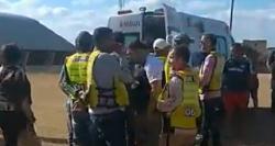 Grave acidente - Motoqueiro bate de frente a caminhão em Limoeiro
